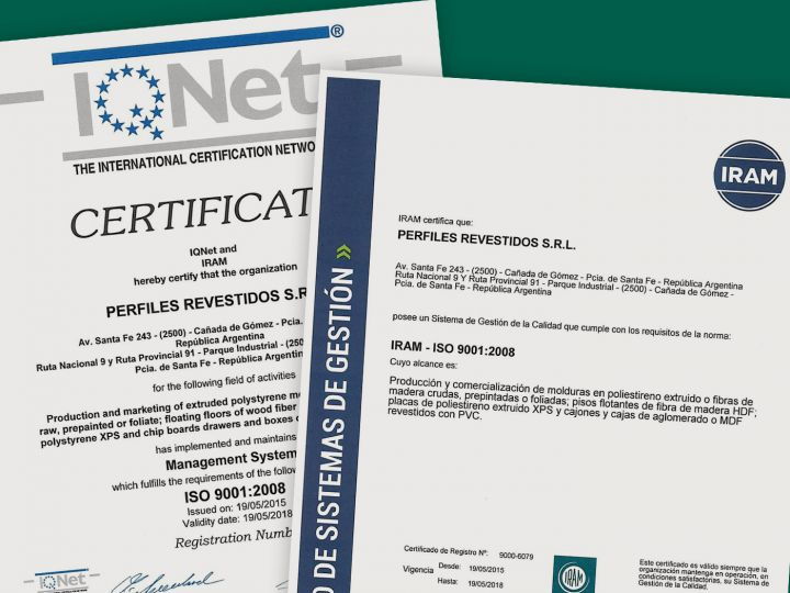 Certificamos ISO 9001